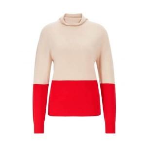 Camisola Vermelha e Bege
